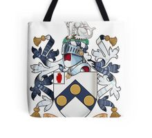 "James Bonds coat-of-arms and family motto ""The world is not enough""  Tote Bag"