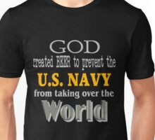 God, Beer & the U. S. Navy for Dark Backgrounds Unisex T-Shirt