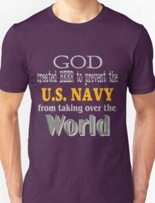God, Beer & the U. S. Navy for Dark Backgrounds Unisex T-Shirt