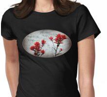paintbrush wildflowers, Johnston's Ridge 3, oval Womens Fitted T-Shirt