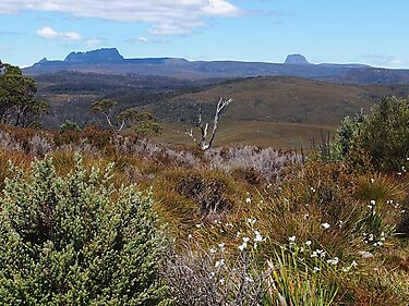 Cradle mountain from a distance. by Esther's Art and Photography