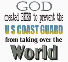 God, Beer & the U. S. Coast Guard Kids Tee