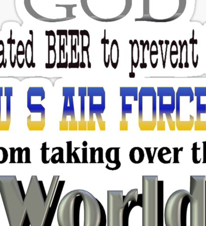 God, Beer & the U. S. Air Force Sticker