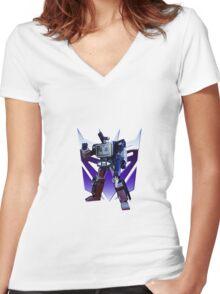 Soundwave Women's Fitted V-Neck T-Shirt