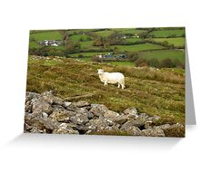 Welsh Hill Farm at Foel Drygarn Bronze Age Hillfort Wales Greeting Card