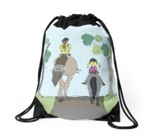 Running In; Please pass Drawstring Bag