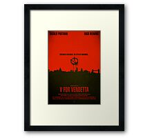 "Movie Poster - ""V for VENDETTA"" Framed Print"