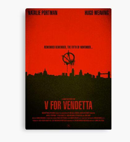 "Movie Poster - ""V for VENDETTA"" Canvas Print"