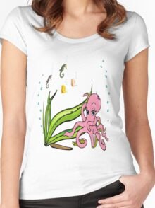 Sealife2 Women's Fitted Scoop T-Shirt