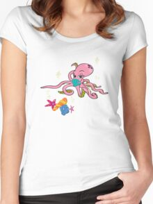 Sealife3 Women's Fitted Scoop T-Shirt