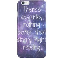 Starry Night Reading iPhone Case/Skin