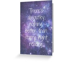 Starry Night Reading Greeting Card