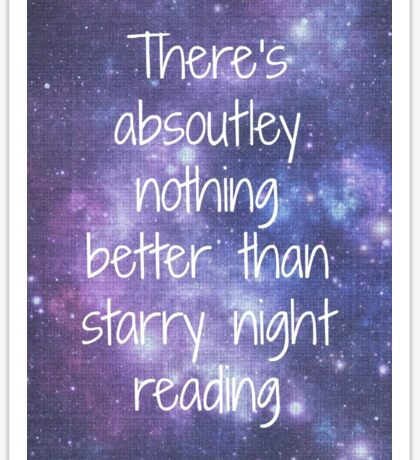 Starry Night Reading Sticker
