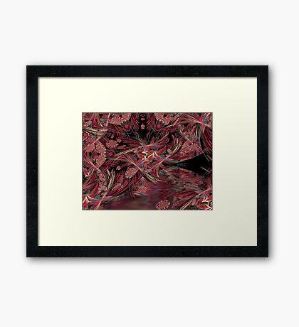 Linear cave Framed Print