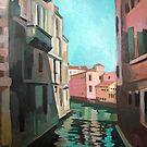 Venetian Cityscape - Canal by Filip Mihail