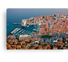 Old Harbor of Dubrovnik in Croatia Canvas Print