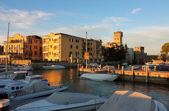 Yacht port in Sirmione, Italy by kirilart