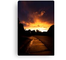 Gutter Sunset Canvas Print
