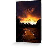 Gutter Sunset Greeting Card