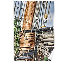 Privateer LYNX mast and rigging Poster