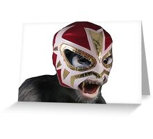 Lucha Monkey Greeting Card