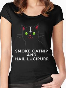 Smoke catnip and hail Lucipurr Women's Fitted Scoop T-Shirt