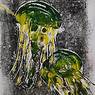 green jellyfish by Inese