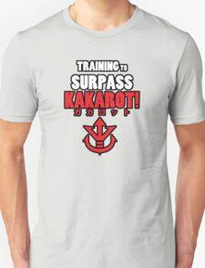 Vegeta - Training to Surpass Kakarot! (Red) T-Shirt