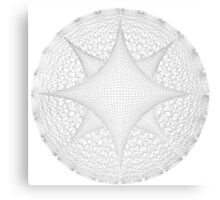 Inverted Lined Circular Diamond Geometry Canvas Print