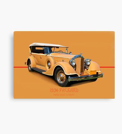 1934 Packard Touring Super Eight w/ID Canvas Print