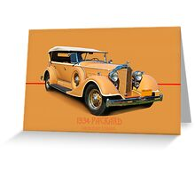 1934 Packard Touring Super Eight w/ID Greeting Card