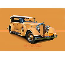 1934 Packard Touring Super Eight w/ID Photographic Print