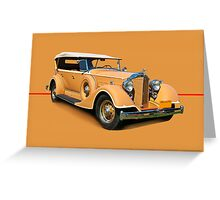 1934 Packard Touring Super Eight w/o ID Greeting Card