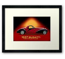 1937 Bugatti Type 57 SC Atalante Coupe w/ID Framed Print
