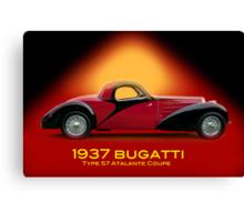 1937 Bugatti Type 57 SC Atalante Coupe w/ID Canvas Print