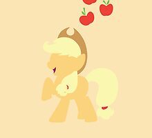 Simple Applejack iPhone/iPad Case by TehCrimzonColt