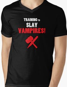 Training to Slay Vampires! Mens V-Neck T-Shirt