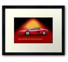 1987 Ferrari Testarossa w/ID Framed Print