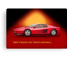1987 Ferrari Testarossa w/ID Canvas Print