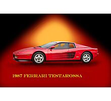 1987 Ferrari Testarossa w/ID Photographic Print