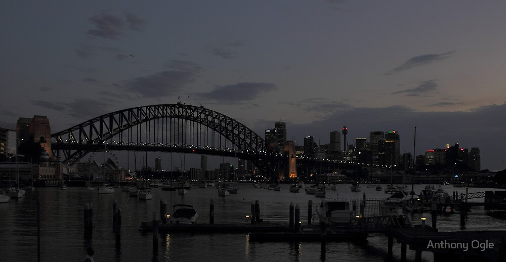 Across The Harbour - From Lavender Bay by Anthony Ogle