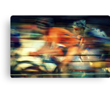 A Great Day For The Race Canvas Print
