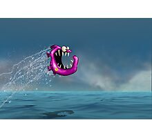 Mad Pink Fish Crazy Jump Photographic Print