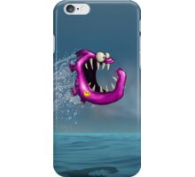 Mad Pink Fish Crazy Jump iPhone Case/Skin