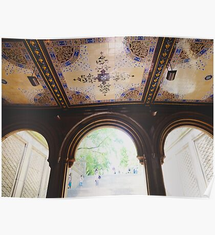 Bethesda Terrace in Central Park Poster