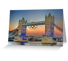London Tower Bridge Sunset Greeting Card