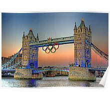London Tower Bridge Sunset Poster