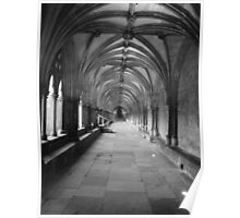 Cathedral Cloisters Poster
