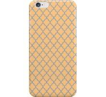 Orange Trellis Pattern iPhone Case/Skin