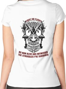 Fight Or Flight Gym Wear No Man Alive Women's Fitted Scoop T-Shirt